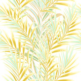 Fashion floral palm pattern with yellow leaves - 235109880