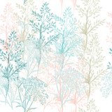 Fashion fabric floral pattern in blue and pink colors - 235109897