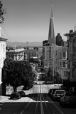 Looking downhill towards the Pyramid in downtown San Francisco