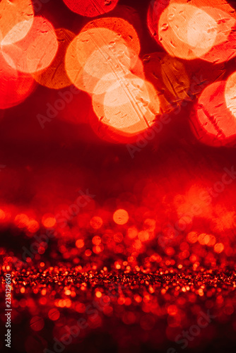 fototapeta na ścianę abstract christmas background with red glitter and bokeh