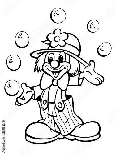 Klaun z cyrku - 235132249