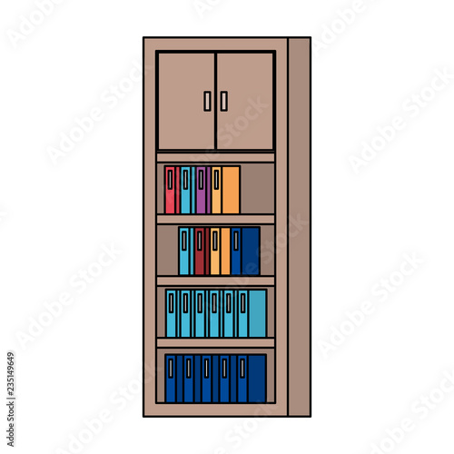 bookscase library isolated icon