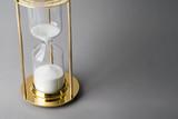 Sand clock, business concept teamwork & time management - 235152028