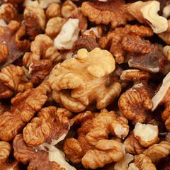 Brown walnut nut background