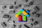Wood Home & housing estate concept - 235152404