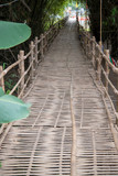 The walk is made of bamboo weave. © bigjom