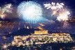 fireworks over Athens, Acropolis and the Parthenon, Attica, Greece - New Year destination
