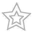 Star shape symbol black and white - 235202263