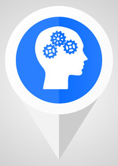 human head think intelligence creativity icon pointer tag vector illustration © Alex White