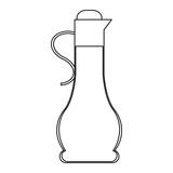 Orange juice in jar in black and white