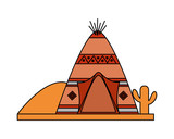 tepee desert indian american - 235233688