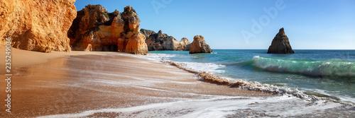 Algarve beach, panoramic banner view - 235249036