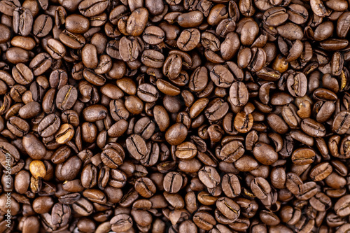 Coffee beans, background, texture.
