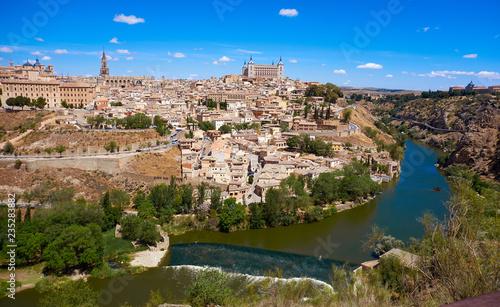 Leinwandbild Motiv Toledo skyline in Castile La Mancha Spain