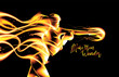 Abstract Flaming Art in Vector - 235289033