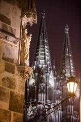 Altstadt, Köln, Kölner Dom bei Nacht