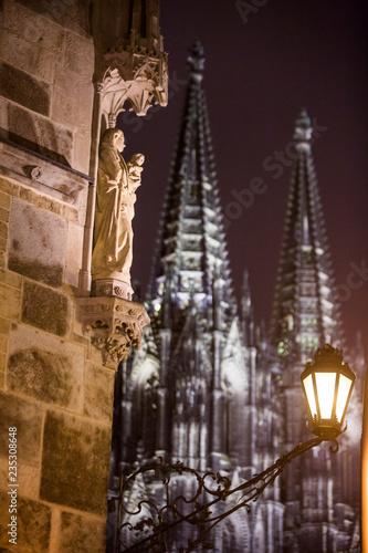 Stare Miasto, Kolonia, Katedra w Kolonii w nocy