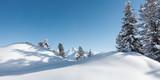 Winterpanorama im Zillertal Tirol