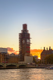 Big Ben under construction in sunset © carol_anne