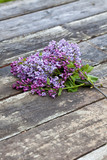 Bouquet of lilac on wood - 235361222
