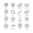 Simple Set of 16 Vector Line Icon. Contains such Icons as Contra