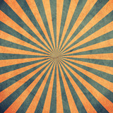 Blue and yellow sunburst vintage and pattern background with space. - 235388648