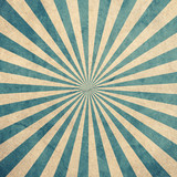 Blue and white sunburst vintage and pattern background with space. - 235388669