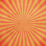 Red and yellow sunburst vintage and pattern background with space. - 235388676