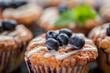 Leinwandbild Motiv Blueberry muffins
