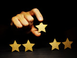 Increase rating. Assessment of business with five stars. - 235414882