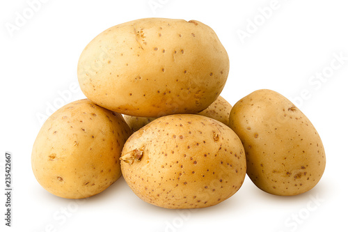 Leinwanddruck Bild potato, isolated on white background, clipping path, full depth of field