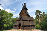 The wooden church in Norway.