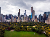 New york aerial view from the Central park