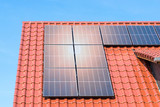 solar panels on the roof - photovoltaic power plant - 235450682
