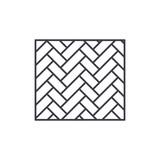 Parquet line icon concept. Parquet vector linear illustration, sign, symbol - 235458630