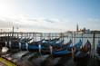 Gondolas in Grand Canal in Venice, Italy