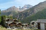 gletscher in der Schweiz in Saas Fee im Sommer