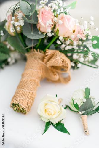 Bouquet fleur pastel mariage