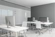 Leinwandbild Motiv Modern coworking concrete office