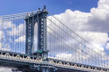 Manhattan bridge close up