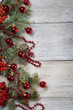 Christmas background on a wooden - 235528210
