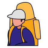 young man with climbing bag - 235530244