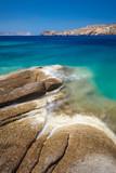 Türkisblaues Meer, Steiniges Ufer, Langzeitbelichtung