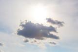 Dark cloud on blue sky.