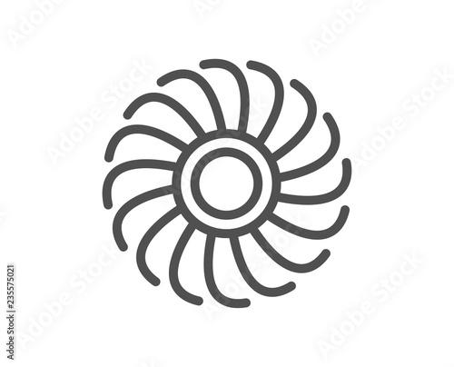 Fan Engine Line Icon Jet Turbine Sign Ventilator Symbol Quality