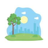 landscape park scene icon © Gstudio Group
