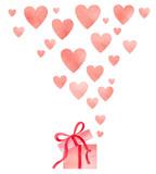 Happy Valentines day watercolor vector illustration. - 235622275