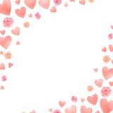 Happy Valentines day watercolor vector illustration. - 235622431