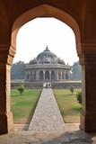 Entrance gate to the tomb of Isa Khan in Delhi, India