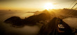 Quadro Aerial View of Rio de Janeiro from the Sugarloaf Mountain by Sunset, Brazil
